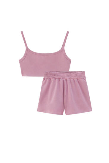 Strappy top and shorts pack