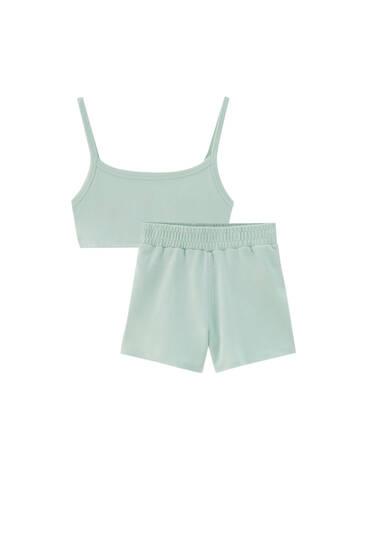 Set med linne och shorts