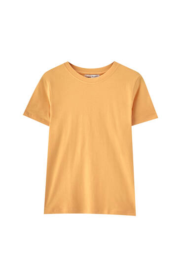 Basic coloured T-shirt - 100% ecologically grown cotton