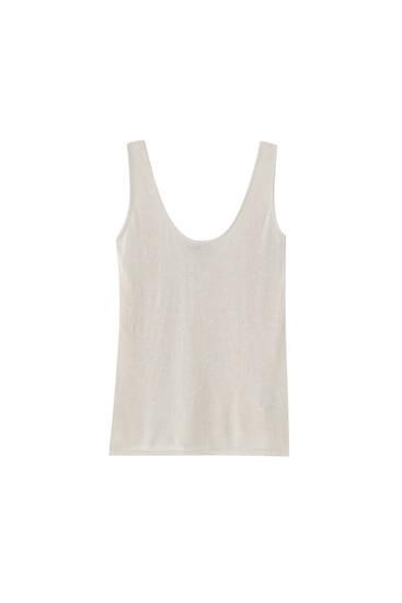 Ajour T-shirt met bandjes