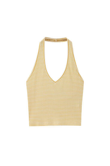 Halter neck top - ecologically grown cotton (at least 50%)