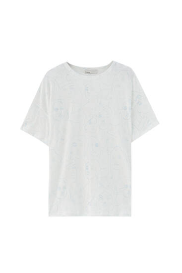 T-shirt with all-over face print