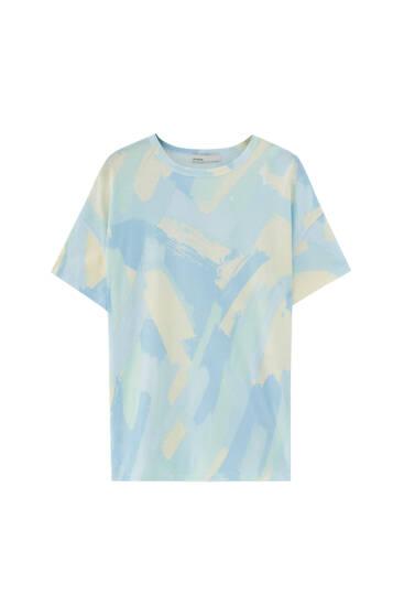 Camiseta pintura brochazos - 100% algodón orgánico