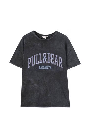 Camiseta oversize logo Pull&Bear