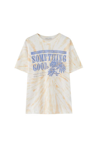Daisy graphic tie-dye T-shirt