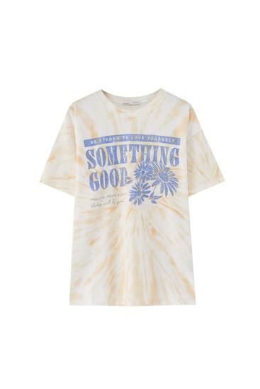 Camiseta tie-dye gráficos margaritas
