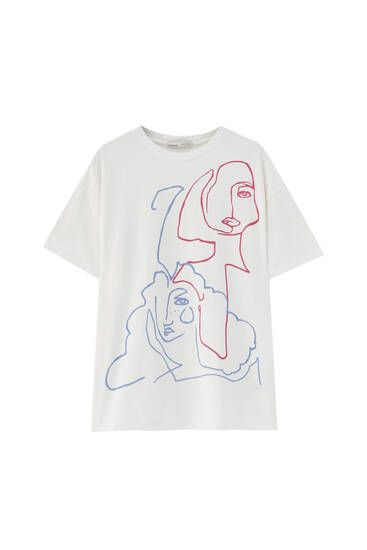 Women's Day T-shirt in white