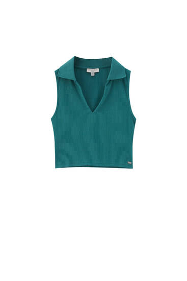 Green sleeveless top