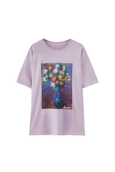 Mauve Monet T-shirt - 100% ecologically grown cotton