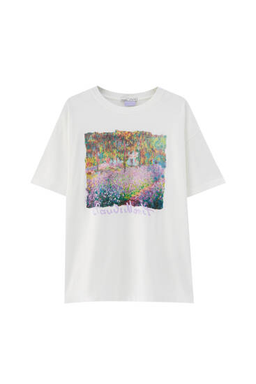White Monet T-shirt - 100% ecologically grown cotton