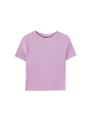 Camiseta básica corta canalé - 100% algodón orgánico