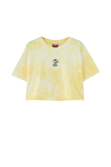 Tie-dye Snoopy T-shirt - ecologically grown cotton (at least 50%)