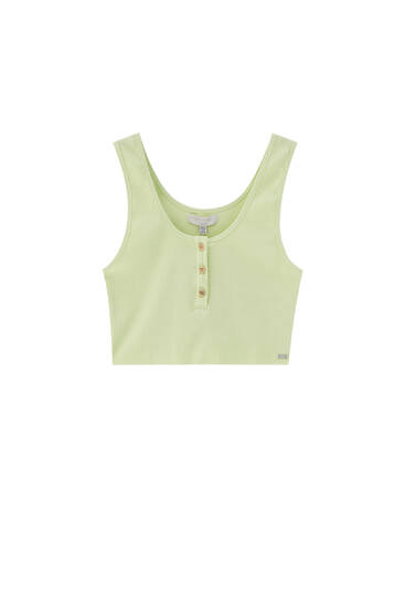 Buttoned top with wide straps