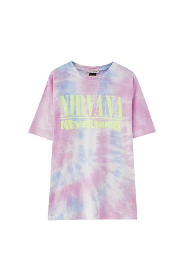 Tie-dye Nirvana T-shirt