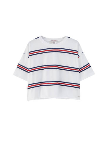 Nautical stripe T-shirt - 100 % ecologically grown cotton