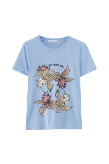 Camiseta blanca ilustración animales
