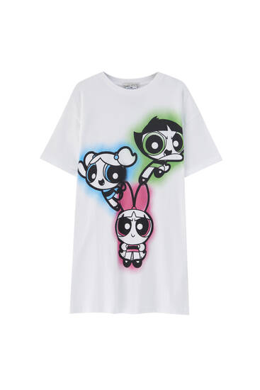 White Powerpuff Girls T-shirt - At least 50% ecologically grown cotton