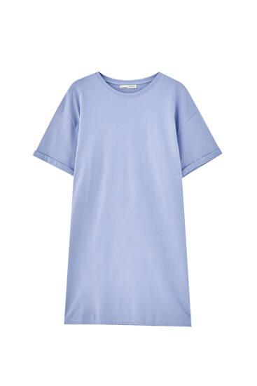 Vestido playera tie dye algodón