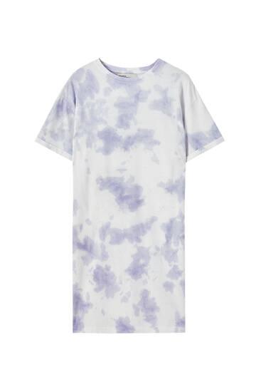 Vestido camiseta tie-dye algodón