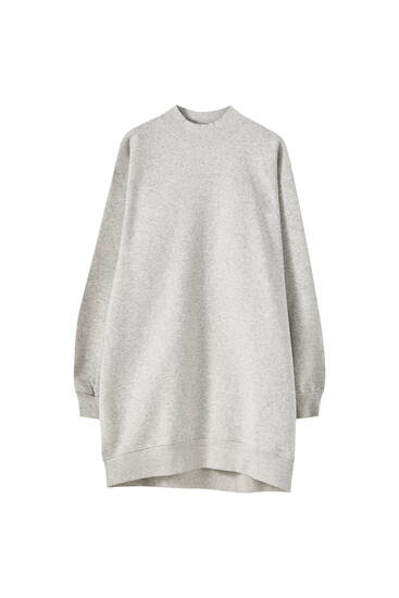 Robe sweat col montant