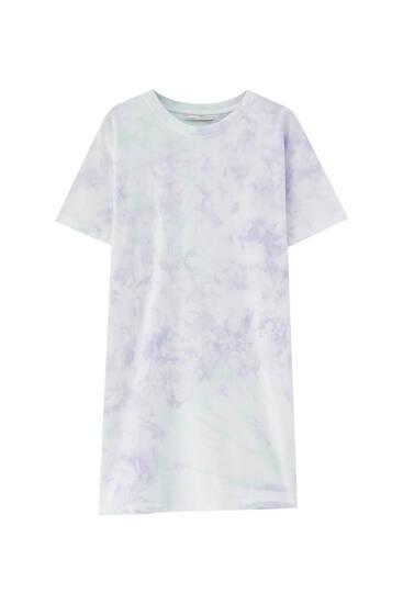 Shirtkleid mit Batik-Print
