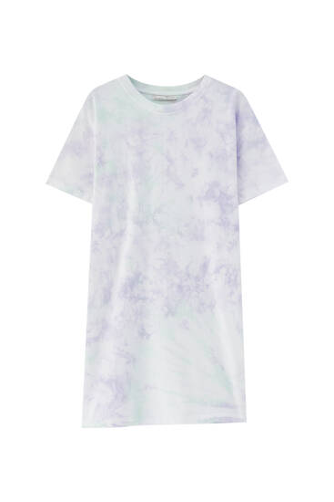 Tie-dye T-shirt dress - 100% ecologically grown cotton