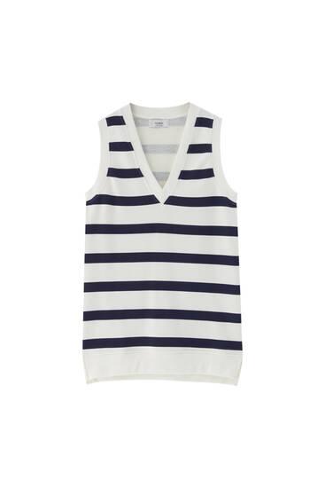 V-neck vest dress