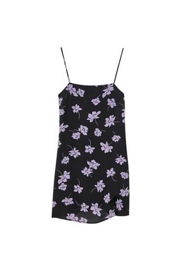 Vestido mini flores tirantes