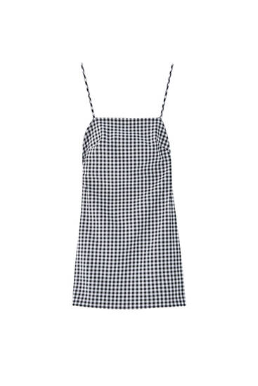 Strappy gingham dress