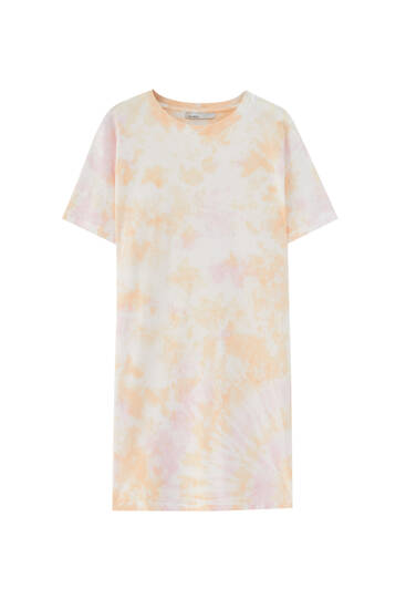 Tie-dye T-shirt dress - ECOVEROTM viscose (at least 50%)