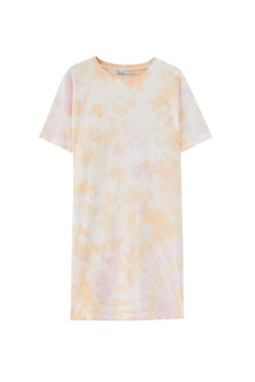 Vestido camiseta tie-dye - ECOVEROTM Viscosa (al menos 50%)