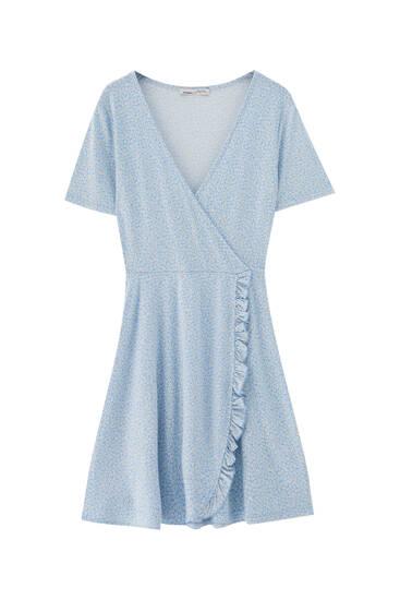 Printed mini ballerina dress