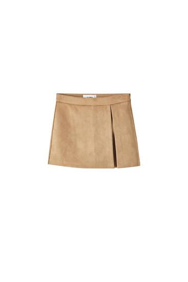 Falda pantalón antelina