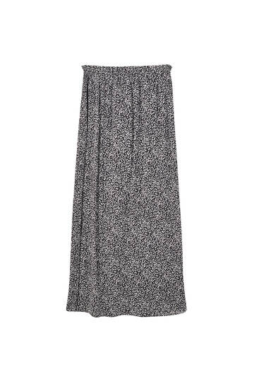 Midi wrap skirt with tie detail