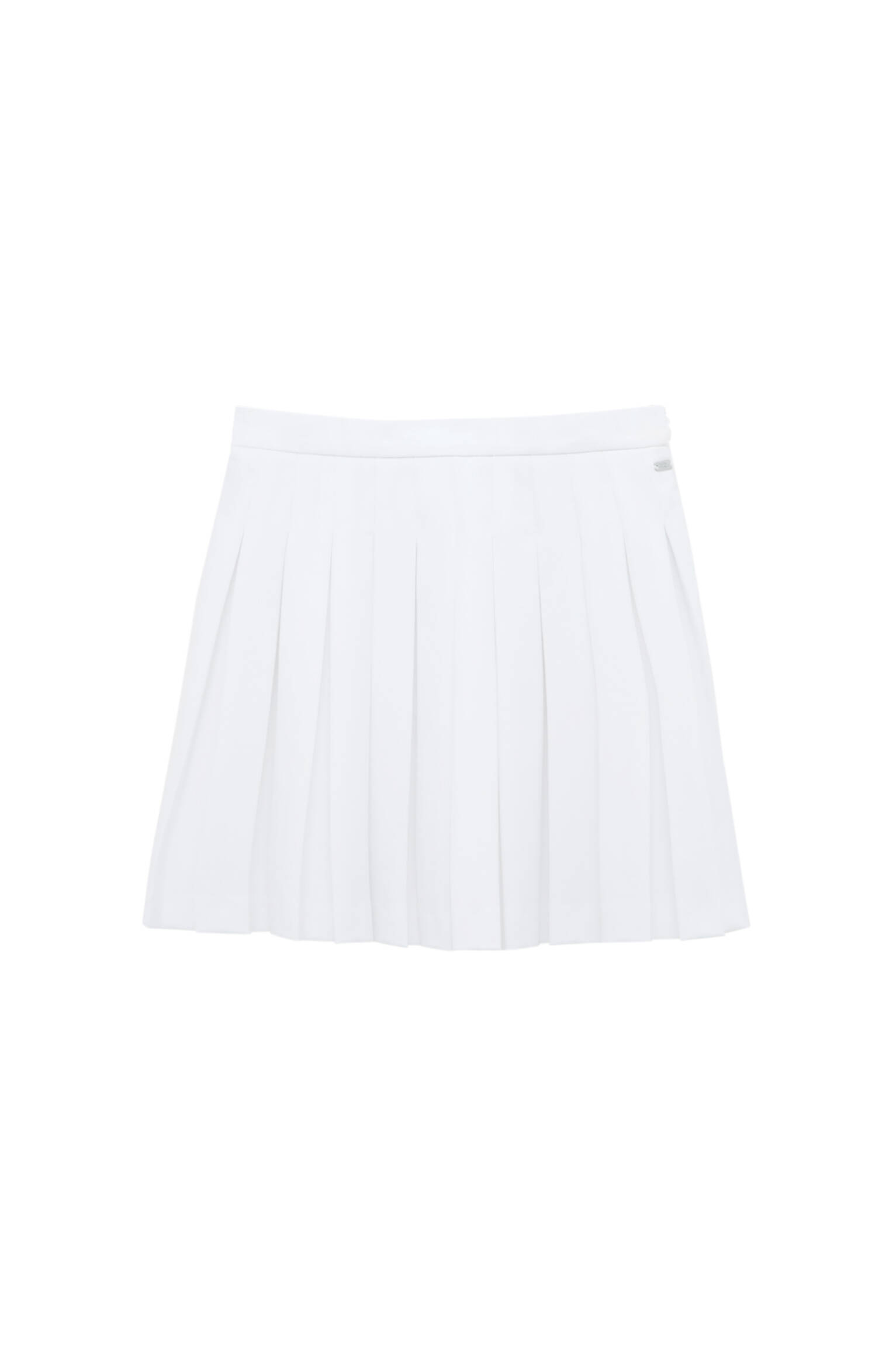Белый Мини-юбка с плиссировкой Pull & Bear