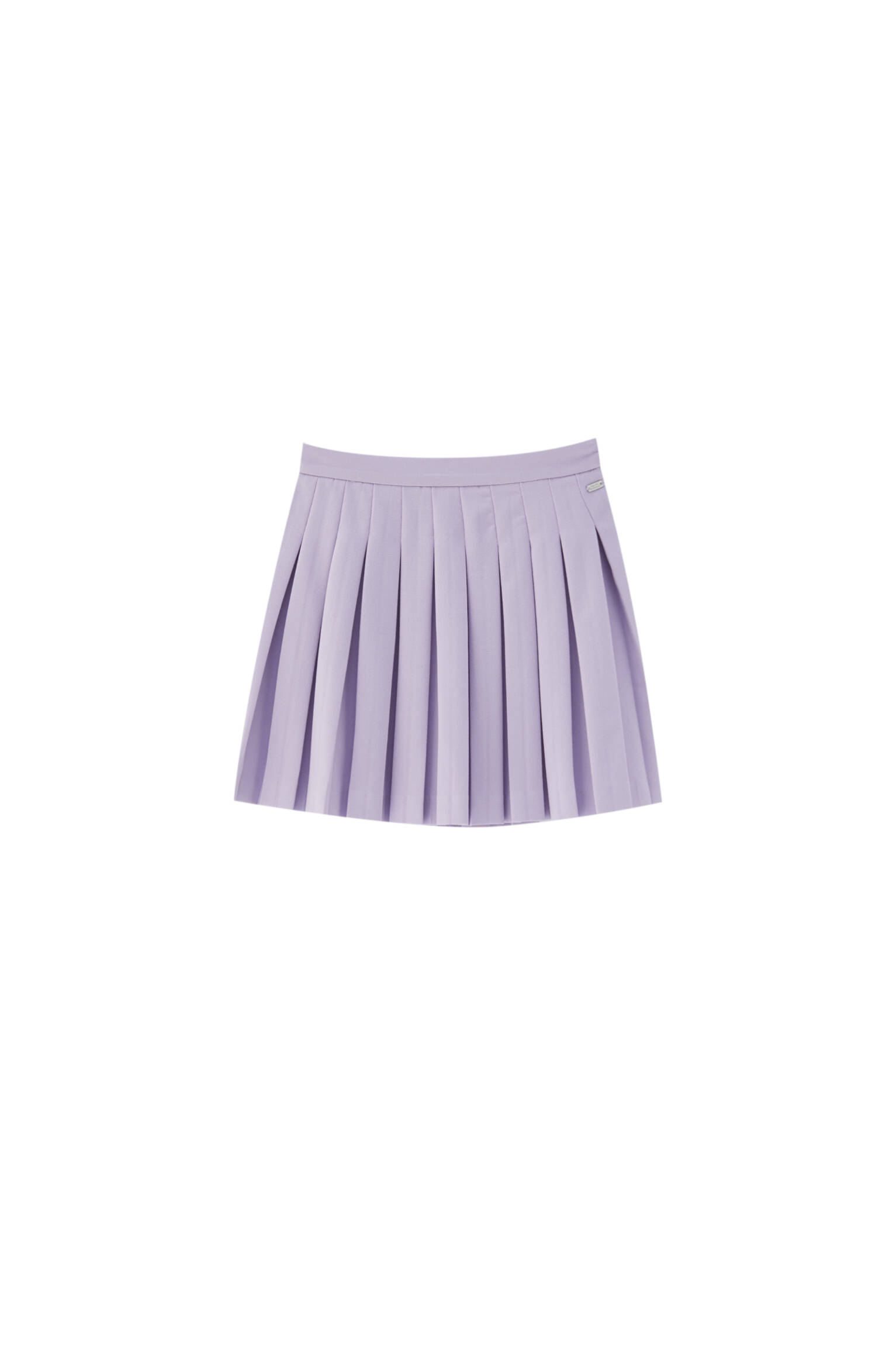 ФИОЛЕТОВЫЙ Мини-юбка с плиссировкой Pull & Bear