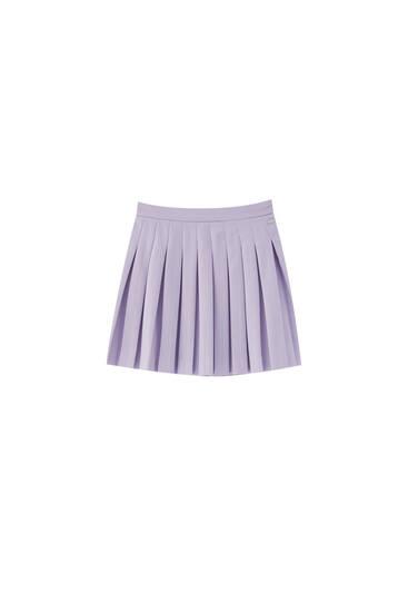 Mini-jupe plissée