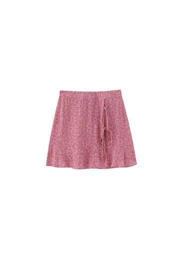 Базовая мини-юбка на запáхе - 100% ECOVERO™ Viscose