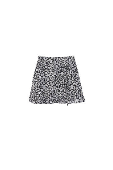 Basic wrap mini skirt - 100% ECOVERO™ Viscose