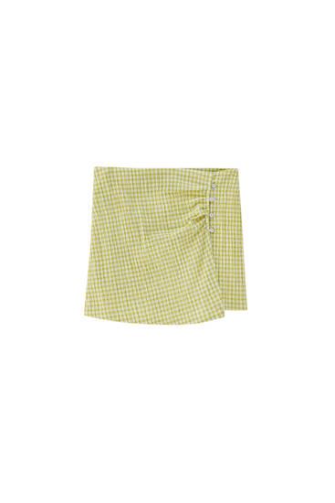 Falda pantalón vichy botones