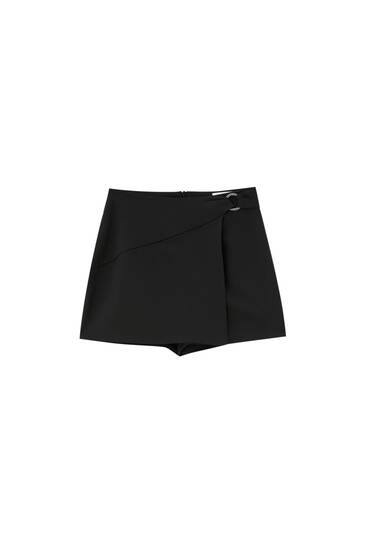 Wrap skort with ring