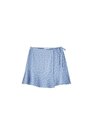 Printed wrap mini skirt - 100% ECOVERO™ Viscose