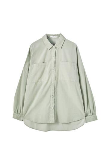 Camisa oversize micropana