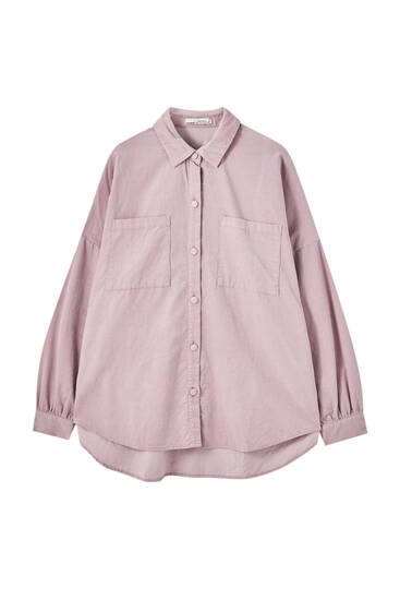 Oversize needlecord shirt