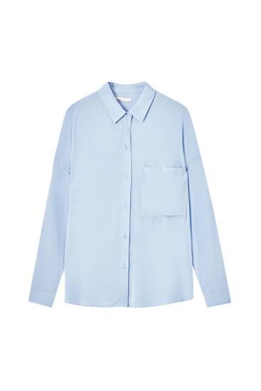 Chemise basique poche avant