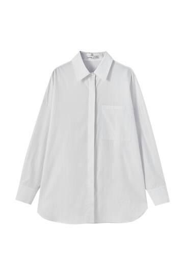 Poplin shirt with pocket