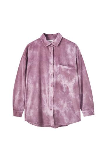 Corduroy tie-dye shirt