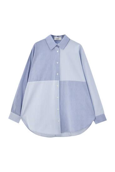 Oversize patchwork shirt