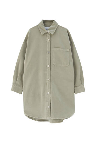 Oversize green overshirt