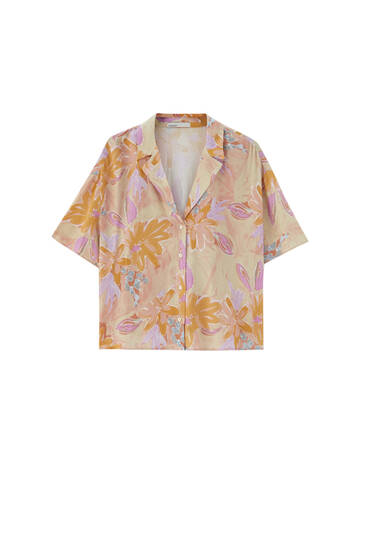 Printed shirt - contains viscose ECOVEROTM